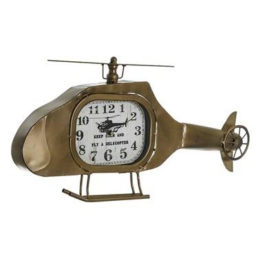 Vitale Vitale Helikopter Duvar Saati 60X25 Cm Ak.Eq0034 Renkli
